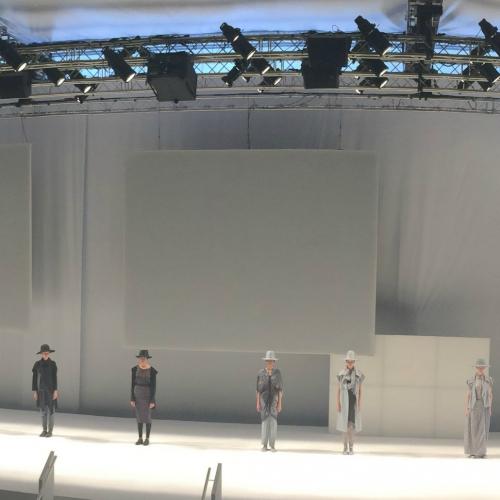 Colección de Miriam Ponsa en la 080 Barcelona Fashion Week.