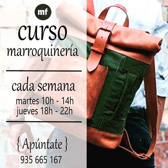 Nuevos horarios para tu clase favorita de #Marroquineria  apúntate a una clase continúa, todo el año, y aprende a confeccionar tus accesorios de piel ! Créeme te va a encantar la experiencia #muchafibra #sewingclass #leather #cuero #doityourself