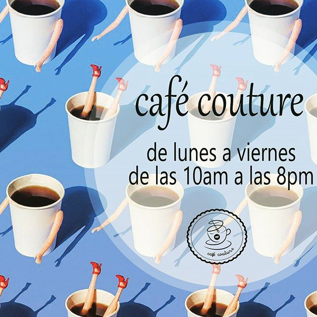 Escóndete del calor en nuestro espacio  disfruta un #te natural o un #cafe italiano !#muchafibra #cursodecostura #barcelona #cafecouture #croasan
