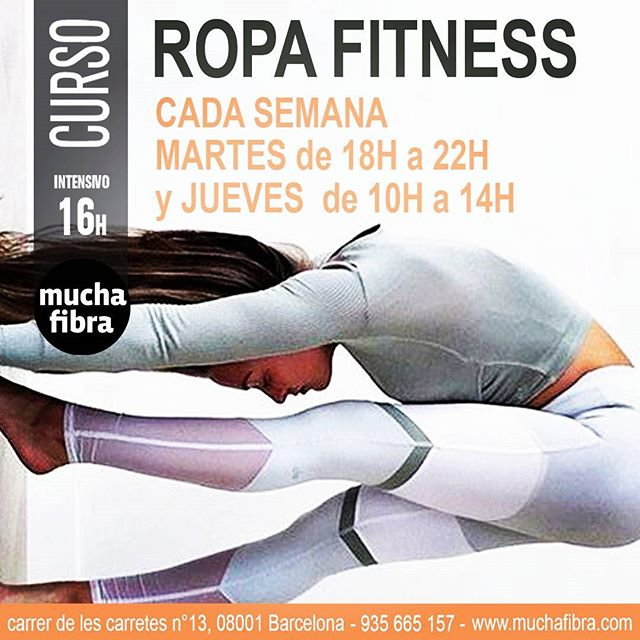 NUEVO NUEVO NUEVO NUEVO NUEVO NUEVO NUEVO en #Barcelona  Confecciona tu ropa fitness, tirantes gruesos, rejillas...  #muchafibra #sewingclass #coworkingmoda #workshop #doityourself #mademyclothes #patterndrafting #diseñar #ropafitness #workout
