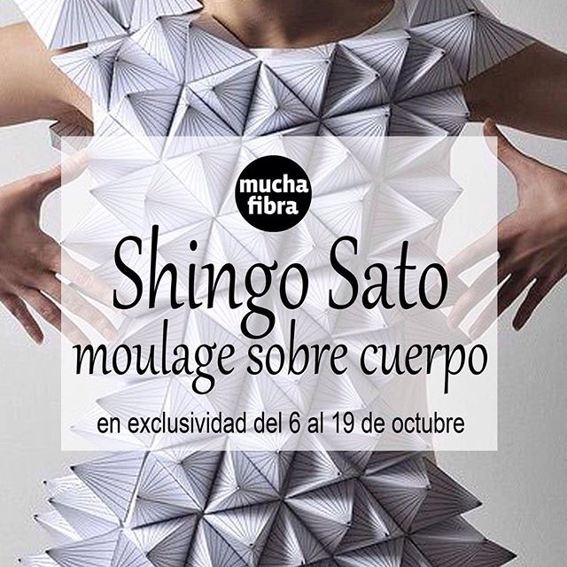 En un mes vuelve #shingosato en #muchafibra  Infórmate en nuestra página www.muchafibra.com o llámanos al 935 665 157! #barcelona #moulage #origami #mademyclothes #diy #sewing #pattern #masterclass #workshop