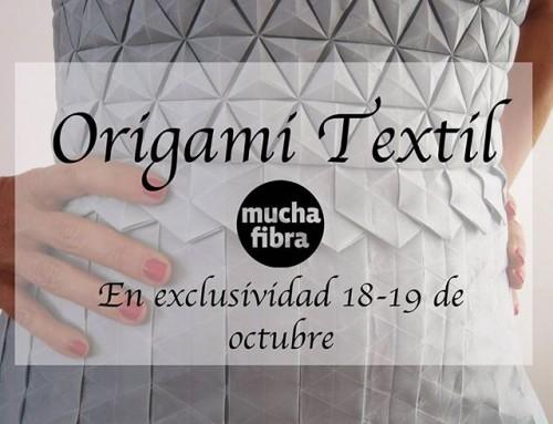 Últimos días con Shingo Sato!Crea volúmenes nuevos, jugando a origami pero con telas, investiga nueva formas, En exclusividad  masterclass textil origami con Shingo Sato, este 18-19 de octubre, reserva tu plaza. Infórmate en nuestra página web www.muchafibra.com o llámanos al 635 665 157!  #muchafibra #masstercalss #workshop #coworking #design #origami #origamitextil #textile #shingosato #moulage