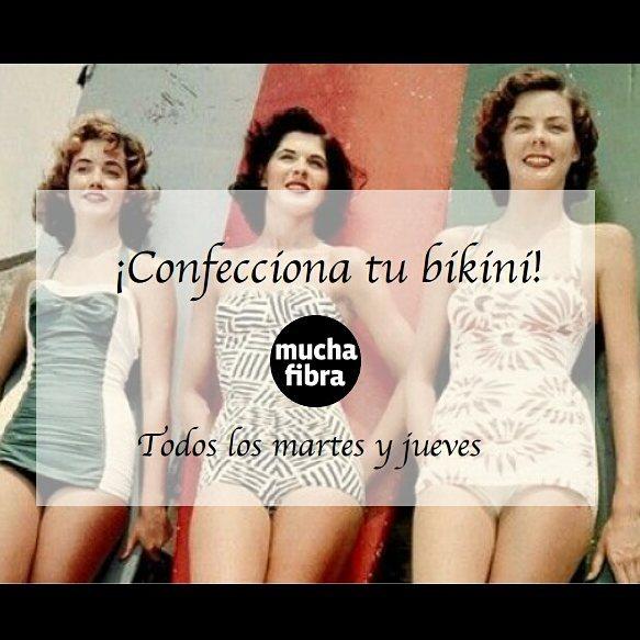 ¡Confecciona tu bikini!Desarrolla tus conocimientos de moda de baño, maneja diferentes tejidos coma licra, aprovecha diseña tu línea en  nuestro curso de bikini y lencería, aprende todos los martes y jueves.Infórmate en nuestra página web www.muchafibra.com o llámanos al 935 665 157! #muchafibra #modadebaño #swimsuit #lencería #lingerie #lycra #doityourself #workshop #fashioncourses #handmade #homewear