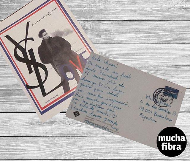Recibimos nuestra primera postal navideña desde Marruecos de @marushka_mooz  en museo de Yves Saint Laurent ????️????#muchafibra #yvessaintlaurent #marruecos #christmas #postcard #gifts #yvesaintlaurentmuseum