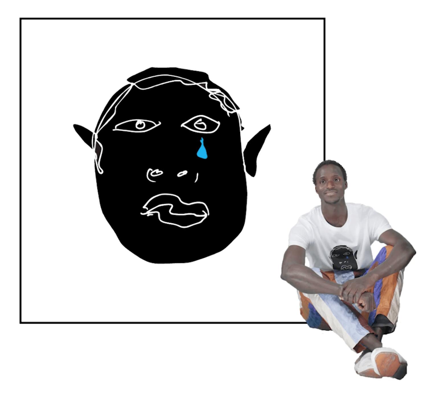 diseña de camiseta, una cara llorando