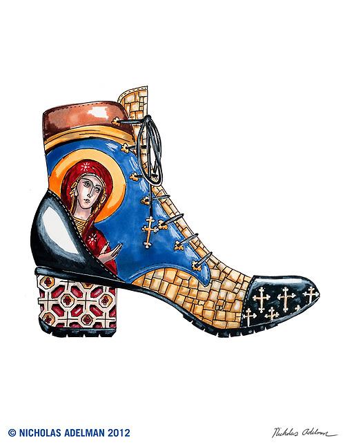 "botas de ""Byzantine Art"""