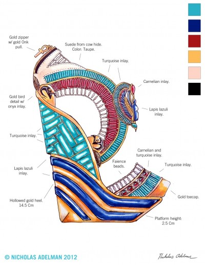 "tacones de ""Egyptian Art"""
