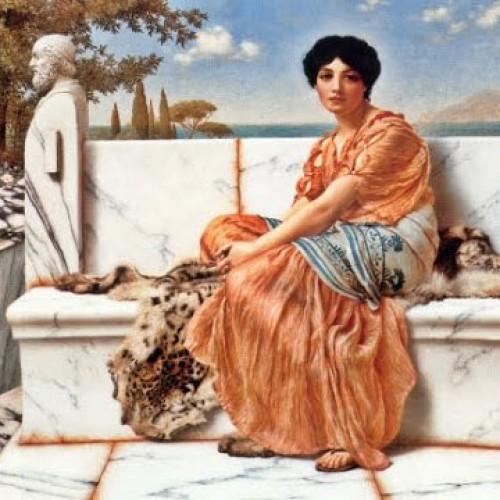 pintura de mujer griega