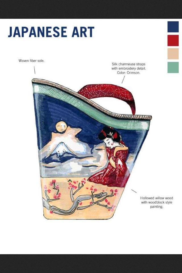 """tacones de """"Japanese Art"""""""