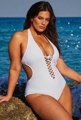 Ashley Graham, una modelo de talla grande estadounidense