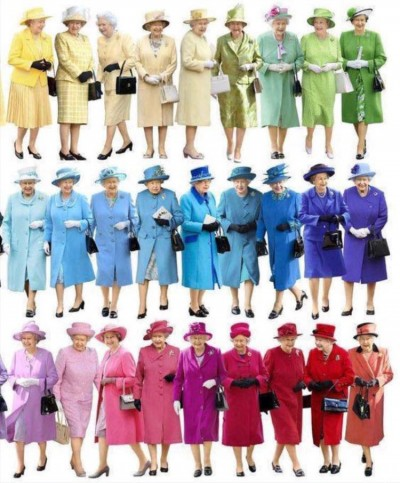Trajes de la Reina de Inglaterra